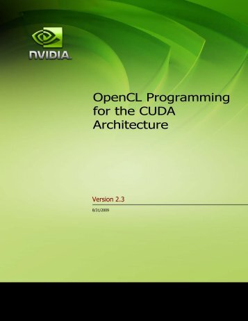 OpenCL Programming Overview - Nvidia