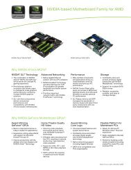 NVIDIA-based Motherboard Family for AMD