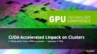 CUDA Accelerated Linpack on Clusters - Nvidia
