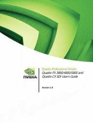 Quadro FX 3800/4800/5800 and Quadro CX SDI User's Guide - Nvidia