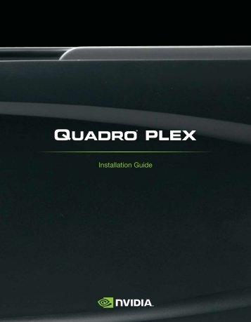 Quadro Plex 2200 D2 Installation Guide - Nvidia