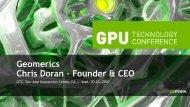 Geomerics Chris Doran – Founder & CEO - Nvidia