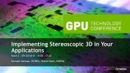 Implementing Stereoscopic 3D in Your Applications - Nvidia