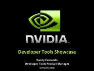 Developer Tools Showcase - Nvidia