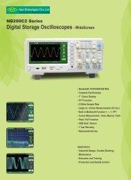 Digital Storage Oscilloscopes- WideScreen - Nvis