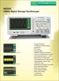 25MHz Digital Storage Oscilloscope NB202C - Nvis
