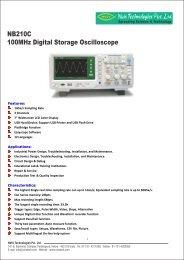 100MHz Digital Storage Oscilloscope NB210C - Nvis