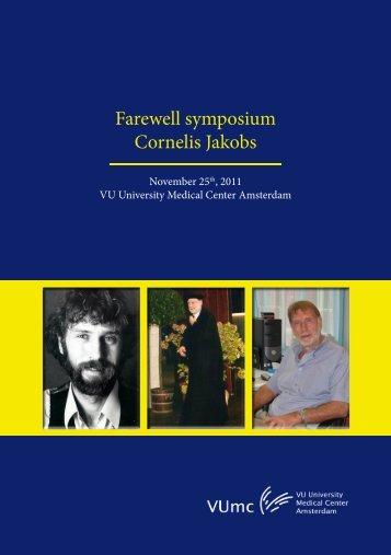 Farewell symposium Cornelis Jakobs - NVKC