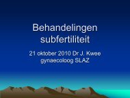 Behandelingen subfertiliteit - NVKC