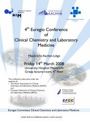 4 Euregio Conference of Clinical Chemistry and Laboratory ... - NVKC