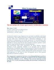 Mini Symposium The increasing role of mass spectrometry ... - NVKC