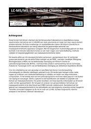 LC-MS/MS in Klinische Chemie en Farmacie Het zelfde ... - NVKC