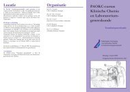 PAOKC-cursus Klinische Chemie en Laboratorium ... - NVKC