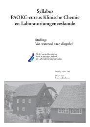 Syllabus PAOKC-cursus Klinische Chemie en ... - NVKC