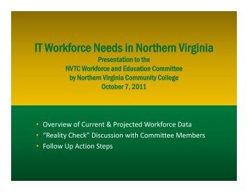 IT Workforce Needs in Northern Virginia