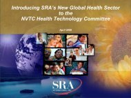 Introducing SRA's New Global Health Sector