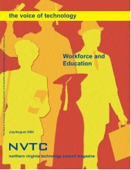 Workforce and Education the voice of technology - Northern Virginia ...