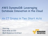 AWS DynamoDB: Leveraging Database Innovation in the Cloud An ...