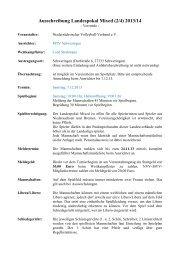 Ausschreibung Schweringen - NVV