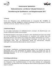 Durchführungsbestimmungen zur Quali-/Relegation - NVV
