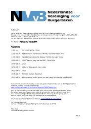 Programma Programma 11.00 uur Ontvangst koffie / thee ... - NVVB