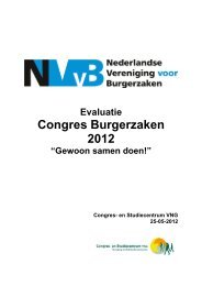 Evaluatie congres Burgerzaken 2012 - NVVB
