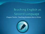 unit twelve-Teaching Students How to Write