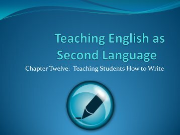 unit twelve-Teaching Students How to Write