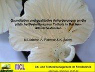 Quantitative und qualitative Anforderungen an die pilzliche ...