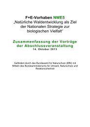 Zusammenfassung der Vorträge (pdf) - Nordwestdeutsche Forstliche ...