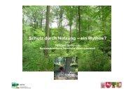 Schutz durch Nutzung - Nordwestdeutsche Forstliche Versuchsanstalt