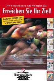 NW-Sonderthemen- und Werbeplan 2011 - Neue Westfälische