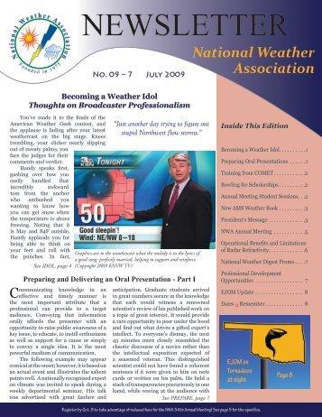 July 2009 - National Weather Association