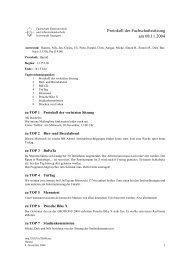 Protokoll der Fachschaftssitzung am 08.11.2004 - Fachschaft ...