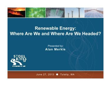 Renewable Energy: Where Are We and Where Are We ... - NWCCC