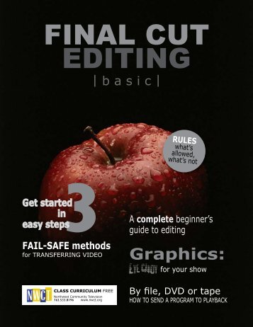 Final Cut editing curriculum - Northwest Community Television