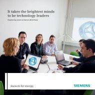 It takes the brightest minds to be technology leaders - Siemens