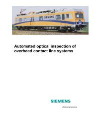 Automated optical inspection of overhead contact line ... - Siemens