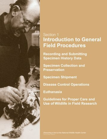 Section 1: General Field Procedures - National Wildlife Health Center