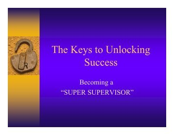 The Keys to Unlocking Success
