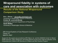 and outcomes - National Wraparound Initiative