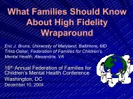 What Families Should Know About High Fidelity Wraparound