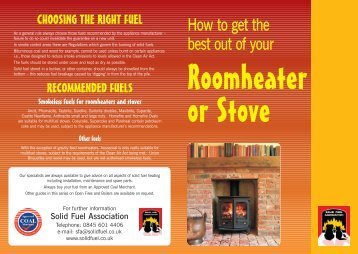 Looking after your roomheater - Solid Fuel Association