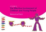 A Guide to the Effective Involvement of Children and Young People