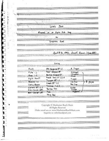 Rosner - Lovely Joan: Rhapsody in an English Folk Song, op. 88