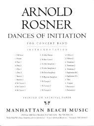 Rosner - Dances of Initiation, op. 98