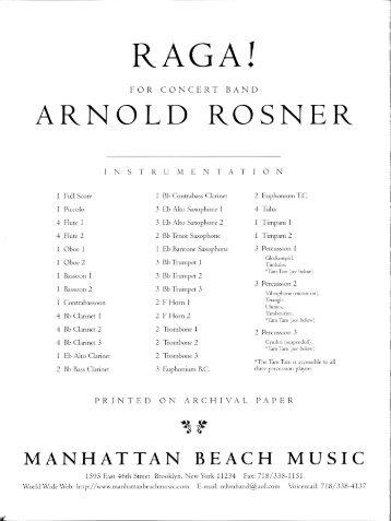Rosner - RAGA!, op. 104