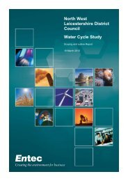 Water Cycle Study - March 2010 - North West Leicestershire District ...