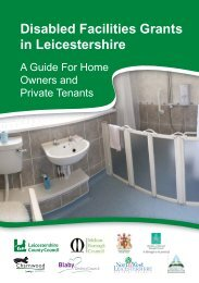 Disabled Facilities Grants in Leicestershire a Guide for Home ...