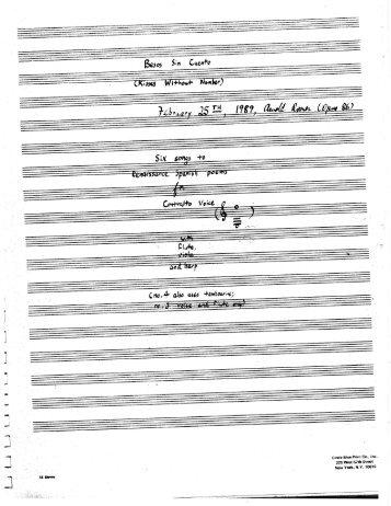 Rosner - Besos sin cuento, op. 86